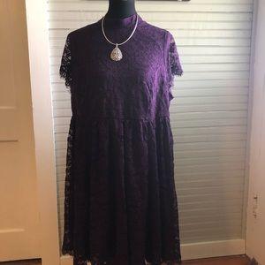 Torrid dark purple lace dress